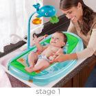 Summer Infant Ocean Buddies Newborn To Toddler Baby Bath Tub With Toy Bar