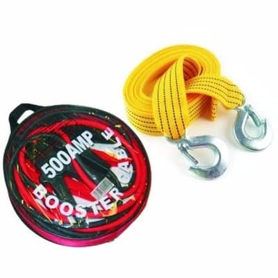 Image result for Car Booster Cable & Tow Rope