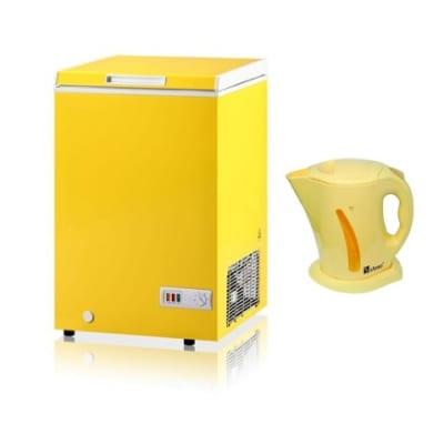 Nexus Chest Freezer - nx-150 - Yellow Free Electric Jug 401