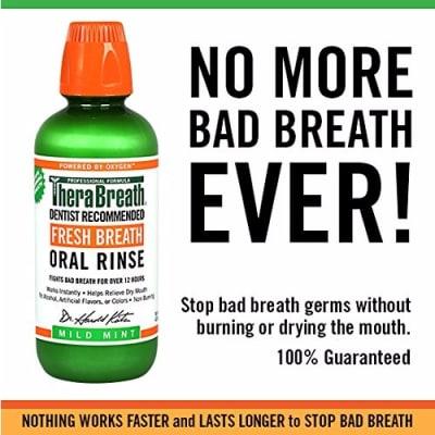 TheraBreath Dentist Formulated Fresh Breath Oral Rinse - Mild Mint ...