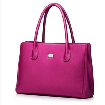 Nucelle Fashion Leather Tote Bag - Pink