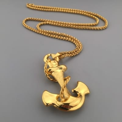 Gold anchor pendant necklace konga nigeria aloadofball Images