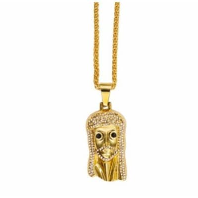 Gold chain with sleek jesus piece pendant konga nigeria mozeypictures Image collections