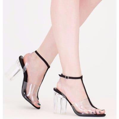 Image result for transparent heel sandals
