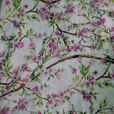 Denny's Rehoboth Flower Plant Patterned Silk - 4 Yards