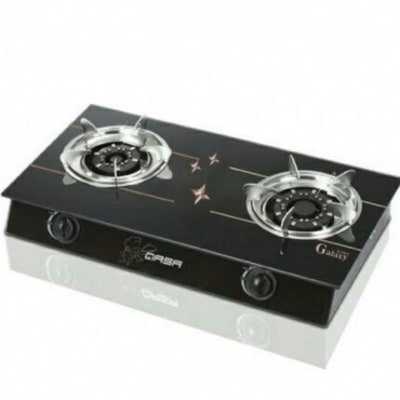 qasa Table Gas Cooker with Tinted Glass Top