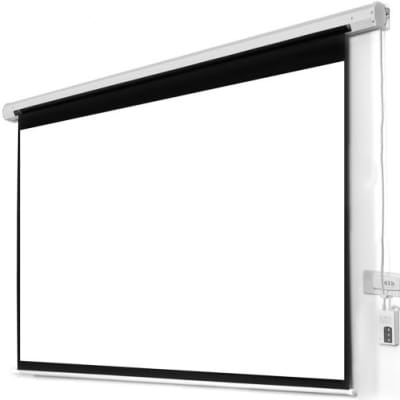 96 x 96 electric remote controlled projector screen for Motorized projector screen reviews