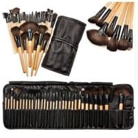 32pcs Makeup Brush Set with Leather Bag