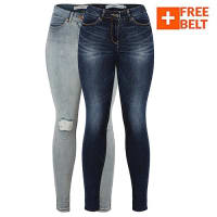 Skinny Fit Jeans - 2 Pack