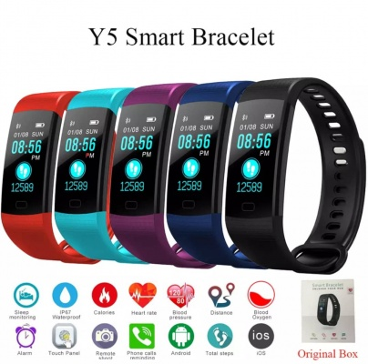 Y5 Smart Wristband Fitness Tracker - Purple