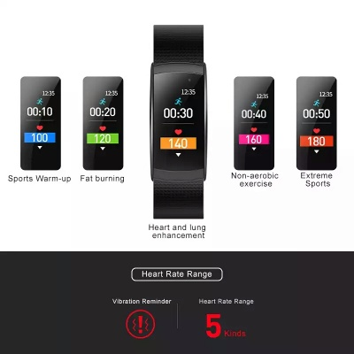 Y5 Smart Wristband Fitness Tracker - Red