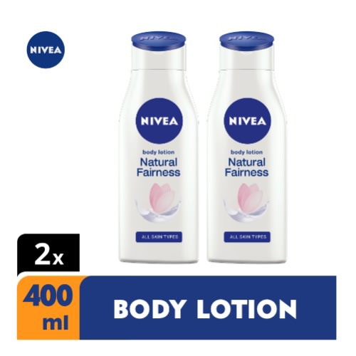 [flash Sales] Natural Fairness Body Lotion For Women - 400ml - Pack Of 2.