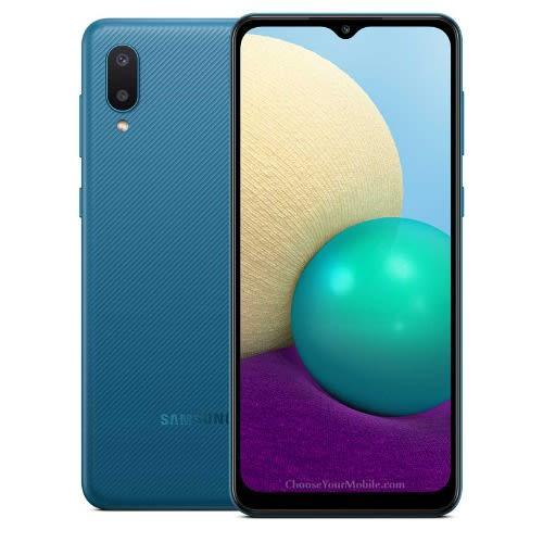 "Galaxy A02 - 6.5"" - 32GB ROM - 2GB RAM - Dual Sim - 4G - 5000mAh - Blue."