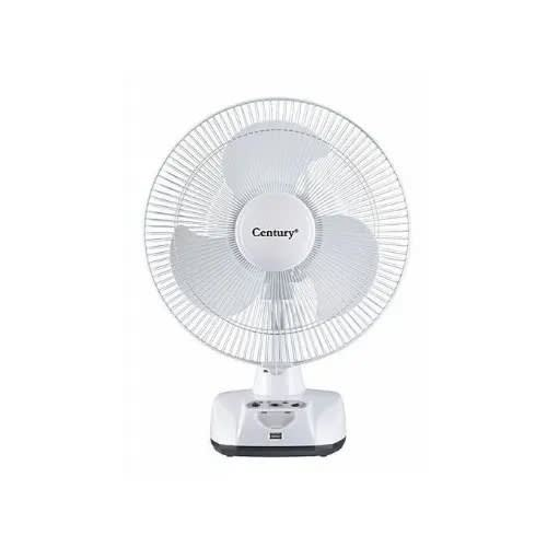 "12"" Rechargeable Table Fan -frct-30-a1- White."