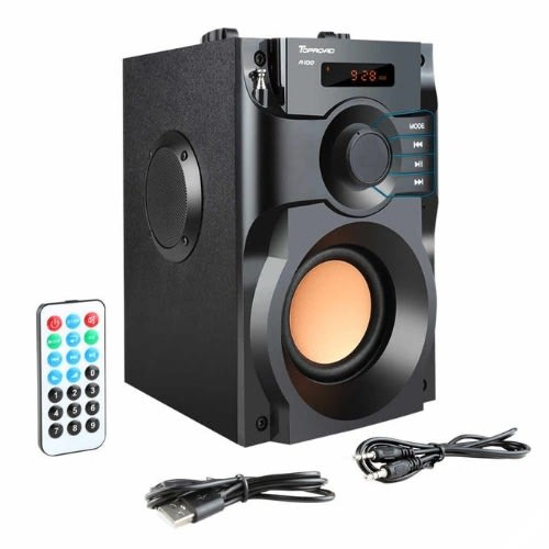 A11 Rechargeable Wireless Portable Stereo Speaker with Hi-Fi Output.