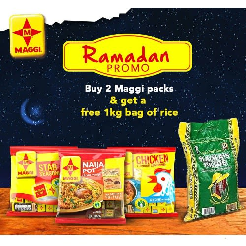 Bundle 1 - Maggi Chicken - 1 Pack & Maggi Star - 1 Pack + Bag Of Rice - 1 kg .