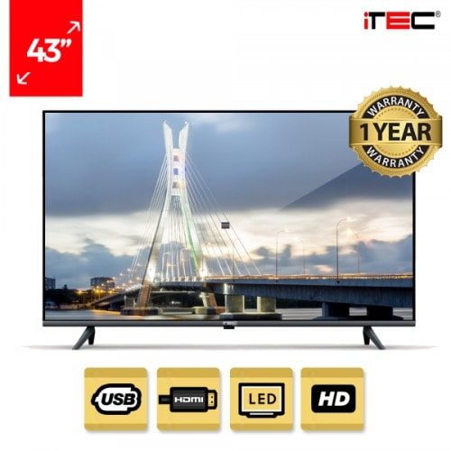 43' Hd Led Tv + Free Wall Bracket.