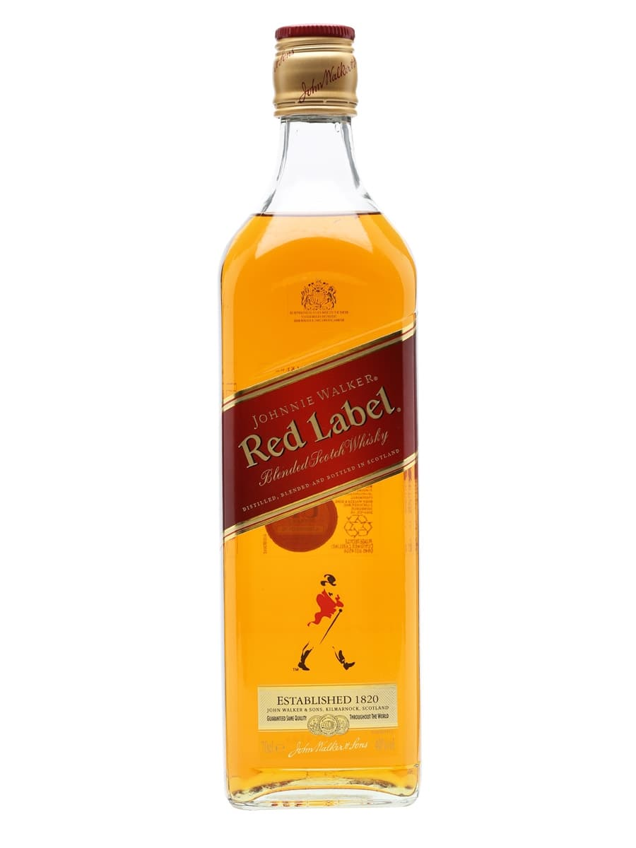 Red Label - 70cl  40% acl. (Single Bottle).