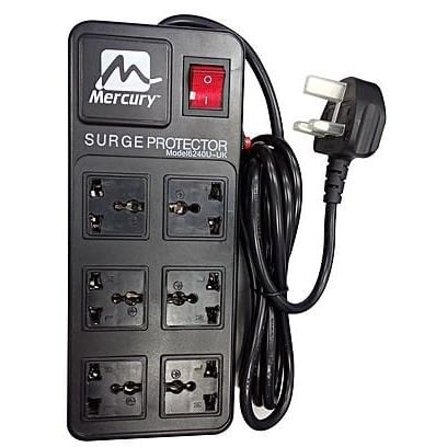 6240u-uk- Surge & Thunder Secure Power Extension Box With 6 Outlets.