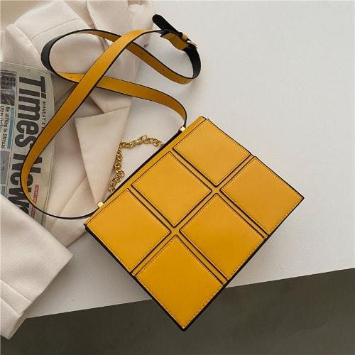 Mini Leather Bag - Yellow.