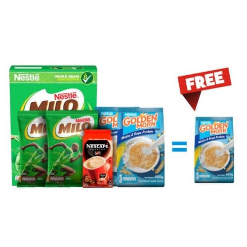 Nestle Bundle 1 + Free Golden Morn 450g.