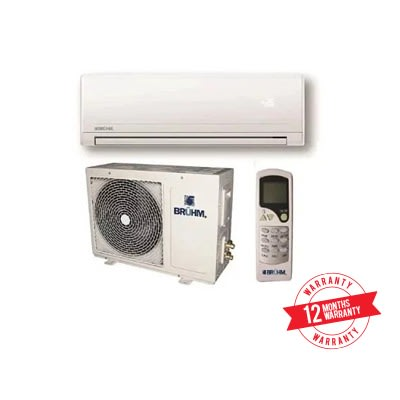 Bruhm 1hp Split Unit Copper Air Conditioner + Installation Kit.