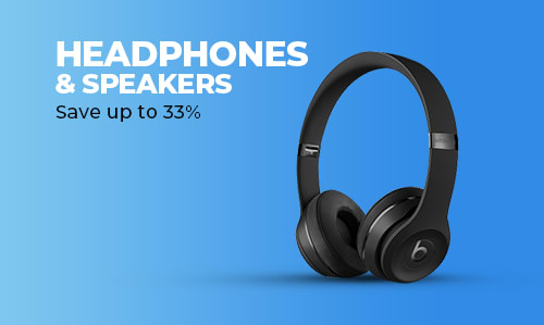 Headphones and Portable Speaker.