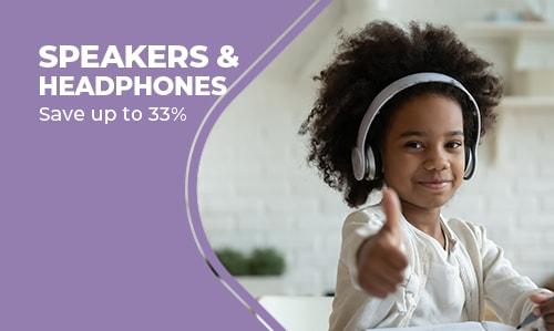 Headphones and Portable Speakers.