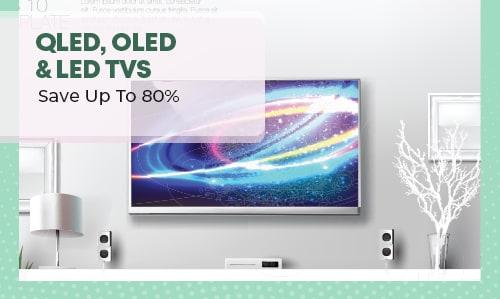 XXL Savings Off QLED, OLED & LED TVs.
