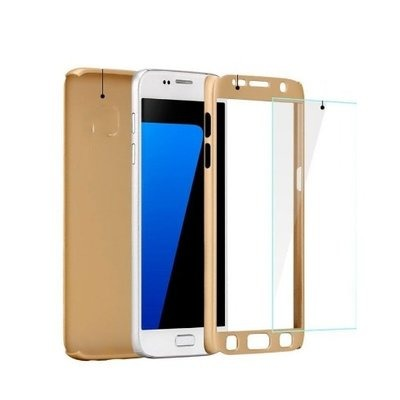 360 Degree Protective Case & Glass for Infinix Hot 4 X557 - Gold