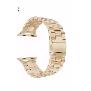 38mm Stainless Steel iWatch Chain Strap - Champagne Gold