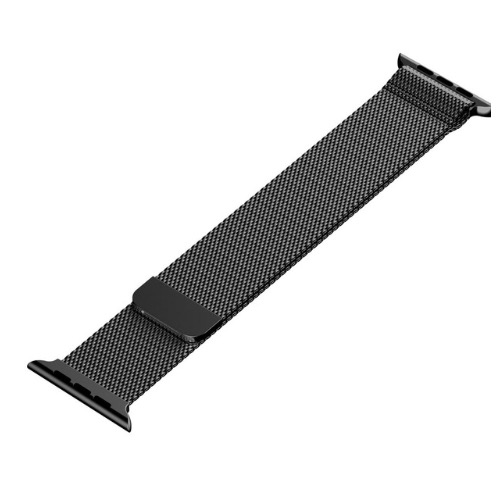 42mm Milanese Loop Band Stainless Strap - Black Iwatch Strap