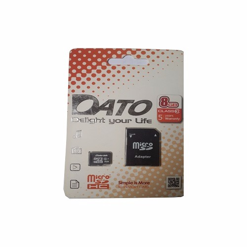 8GB Micro SDHC Class 10 Memory Card with Adapter