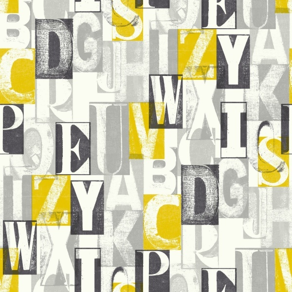 ABC Black and Yellow Wallpaper