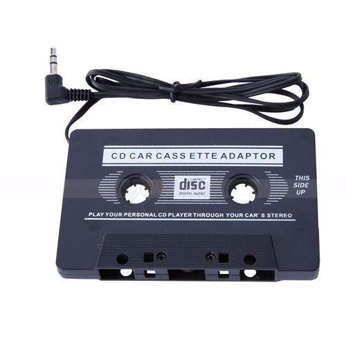 Audio Cassette Adapter For MP3 Cellphones - 3.5mm Jack - Black