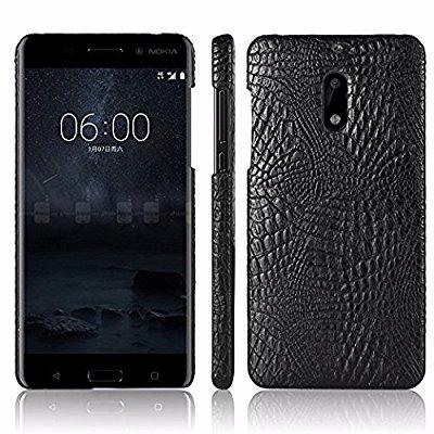 Croc Protective Back Case For Nokia 8 - Black