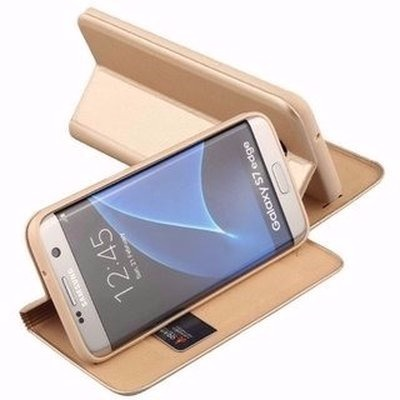 Flip Cover for Samsung Galaxy S7 Edge - Gold