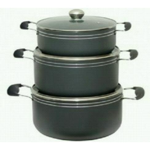 Hoffner 6 Pieces Non-stick Cookware Set- Medium