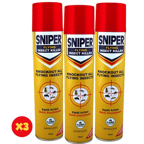 Sniper Aerosol For Flying Insects - 300ml - X3