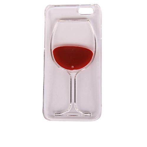 Liquid Red Wine Cup Transparent Case For iPhone 5 & 5S