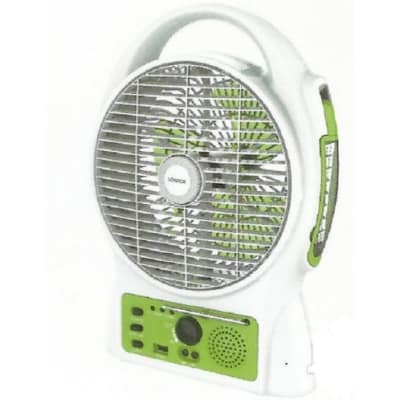 Rechargeable Table Fan With USB Port & Radio
