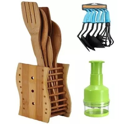 Kitchen Wooden Tools, Non-Stick Spoons & Onion Chopper
