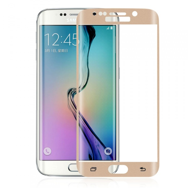Premium Tempered Glass For Samsung Galaxy S7 Edge Gold