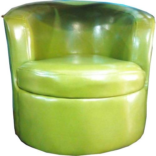 Single Sofa Leather Arm Chair - Green