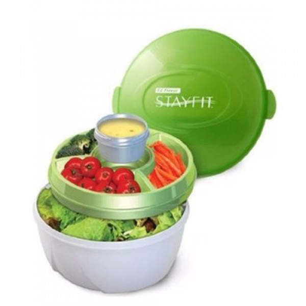 Stay Fit' On The Go' Salad Bowl With Freezer Pack