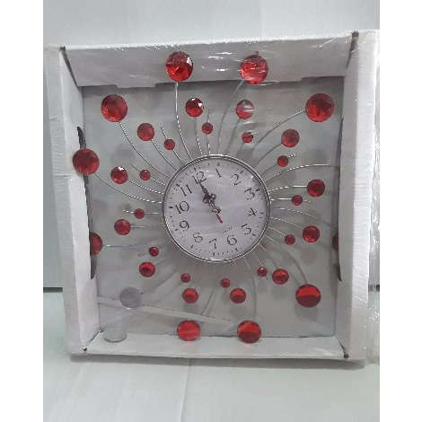 Wall Clock With Stones
