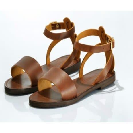 Online Shopping Women's Greek BrownKonga Sandals sBQxtdChr