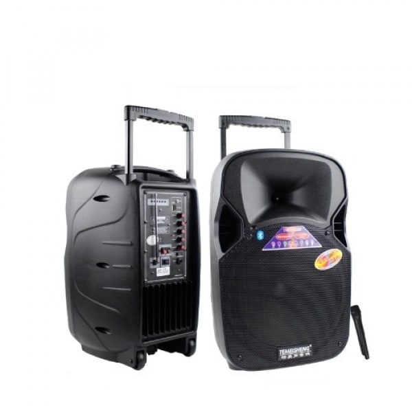 12 Pa Speaker - Bluetooth Portable Pa System With Fm Plastic