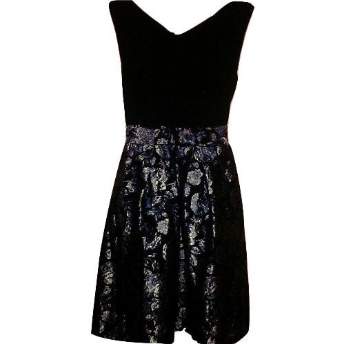 17606007f778b Closet 2 In 1 Blue & Gold Jacquard Floral Dress | Konga Online Shopping