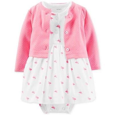 de5547cd2e47 Carter's 2-Piece Flamingo Dress & Cardigan | Konga Online Shopping